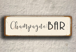 Champagne Bar Sign