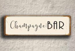 Champagne Bar Sign