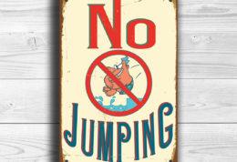 No Jumping Sign