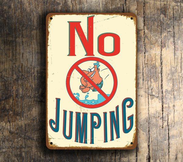 No Jumping Pool Rules