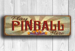 Play Pinball Here Sign