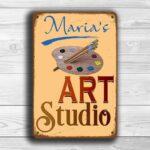 Personalized Art Studio Sign