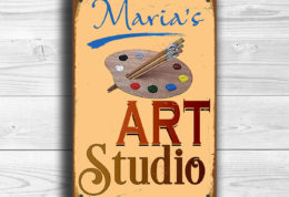 Personalized Art Studio Sign