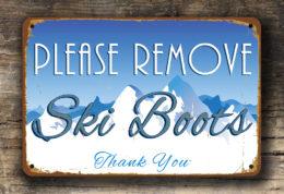 Please Remove Ski Boots Sign