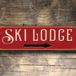 Ski Lodge Sign 2