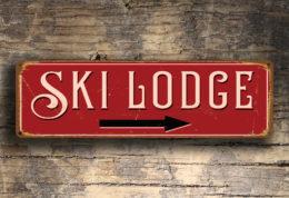 Ski Lodge Sign
