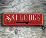 Ski Lodge Pointer Sign