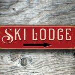 Ski Lodge Sign 5