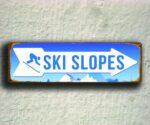 Ski Slopes Directional Sign