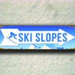 Ski slopes Sign 3