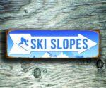Ski Slopes Arrow Sign