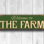Welcome to the Farm Sign 4