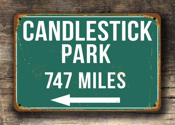 Candlestick Park Distance Sign