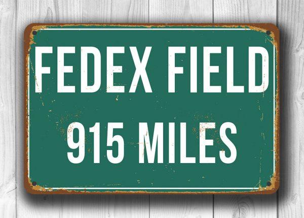 Fedex Field Distance Sign