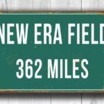 New Era Field Distance Sign