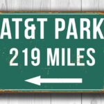 Personalized ATandT Park Distance Sign