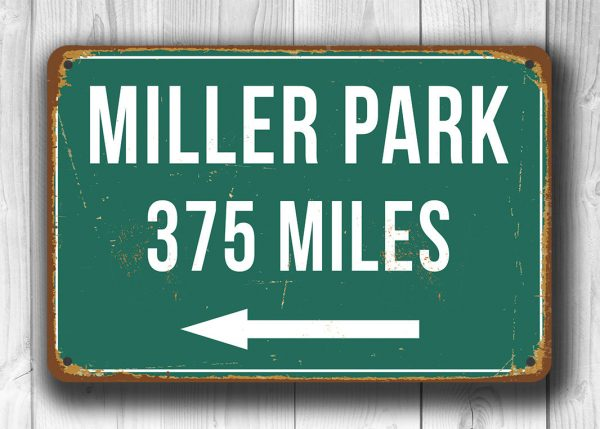 Personalized-Miller-Park-Distance-Sign-1