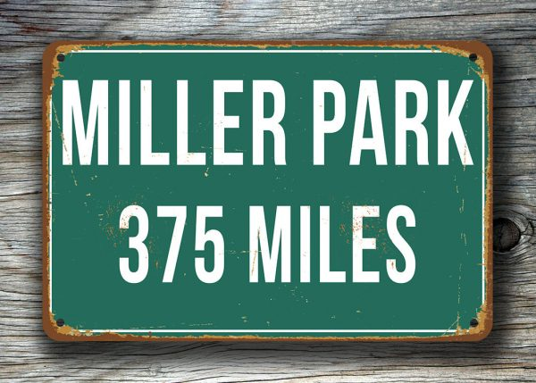 Personalized-Miller-Park-Distance-Sign-2