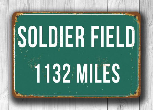 Personalized Soldier Field Distance Sign
