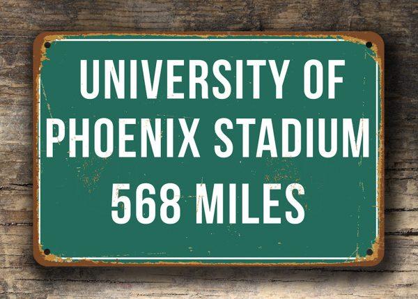 University Of Phoenix Stadium Miles Sign