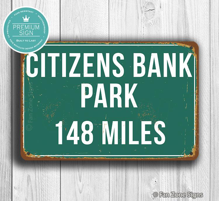 Citizens Bank Park Distance Sign