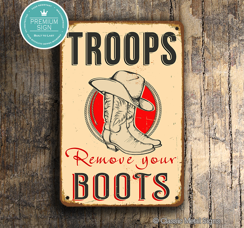 Troops Remove Your Boots