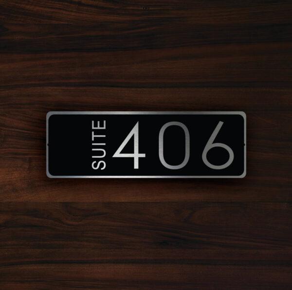 CUSTOM HOTEL SUITE Door Number Sign