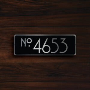 CUSTOM HOUSE NUMBER Sign