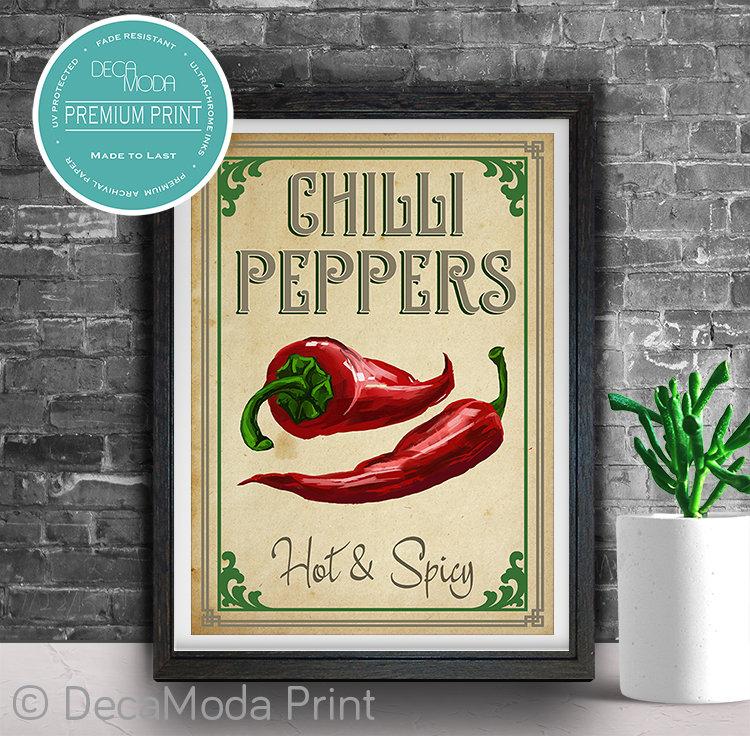 Chilli Kitchen Art Print