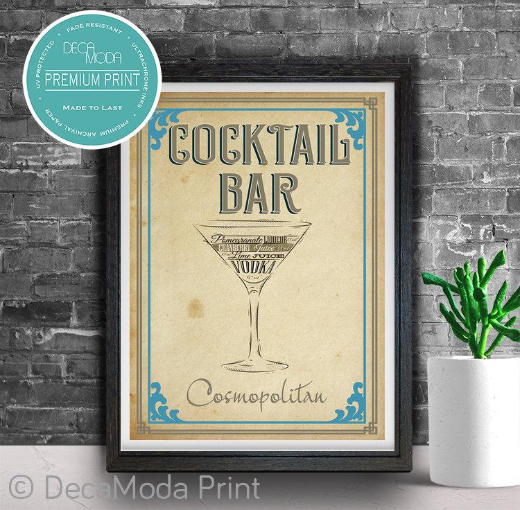 Cosmopolitan Ingredients Artwork Print