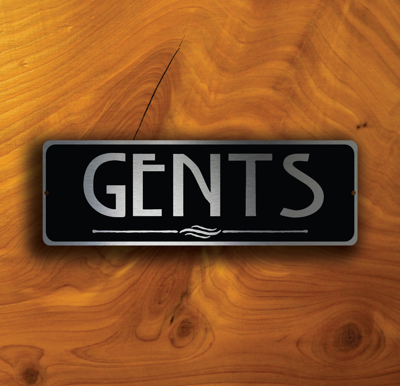 GENTS RESTROOM SIGN