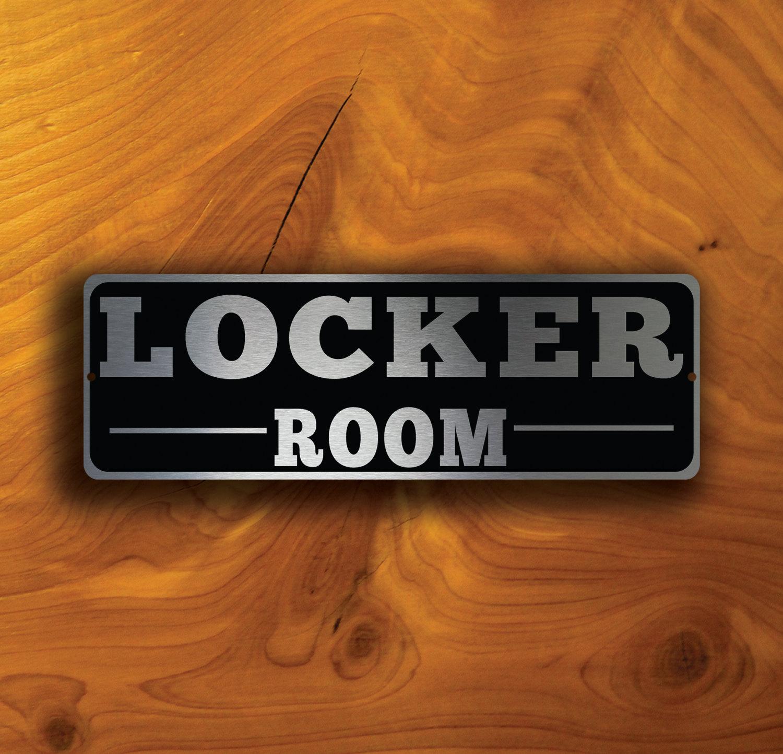 LOCKER ROOM DOOR Sign