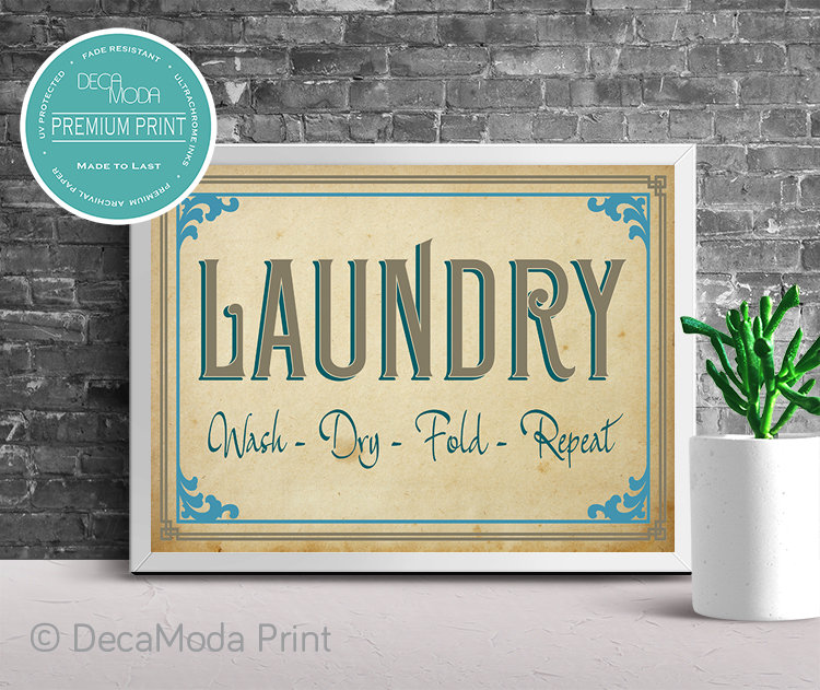 Laundry Décor Print
