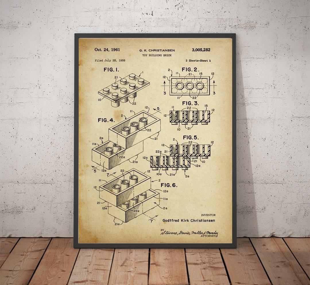 Lego Patent Artwork Print