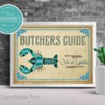 Lobster Cuts Print Wall Art