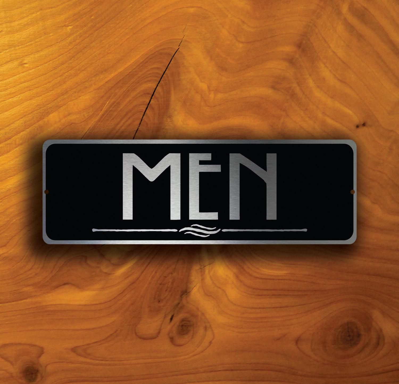 MENS RESTROOM SIGN