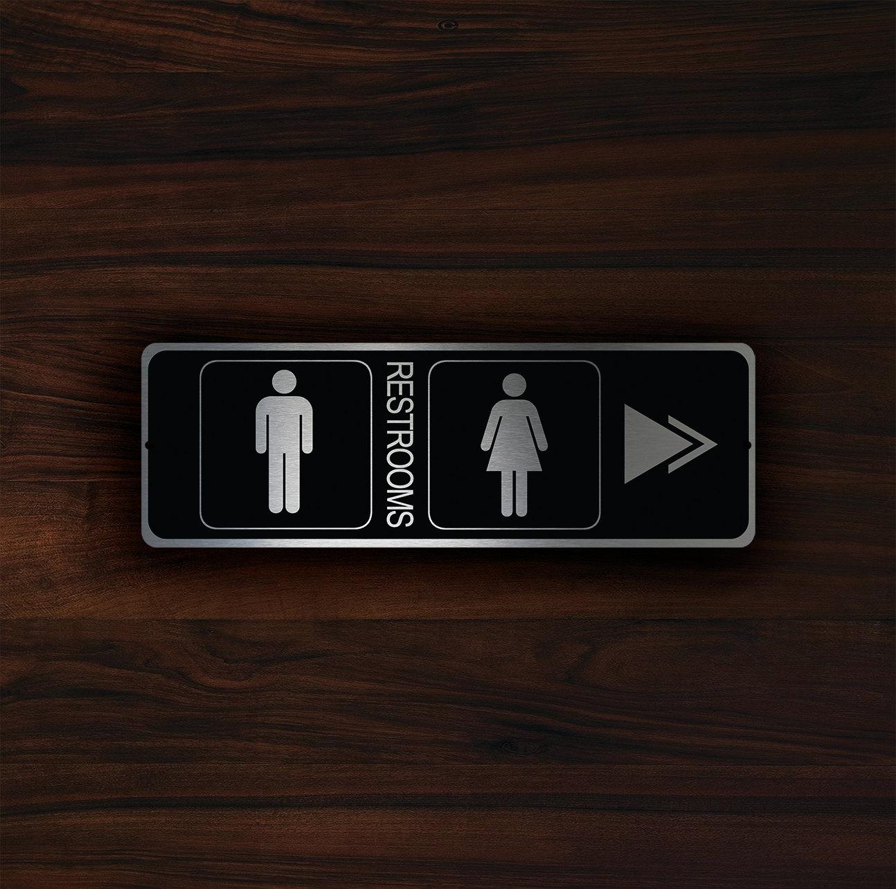 MODERN RESTROOM DOOR Sign