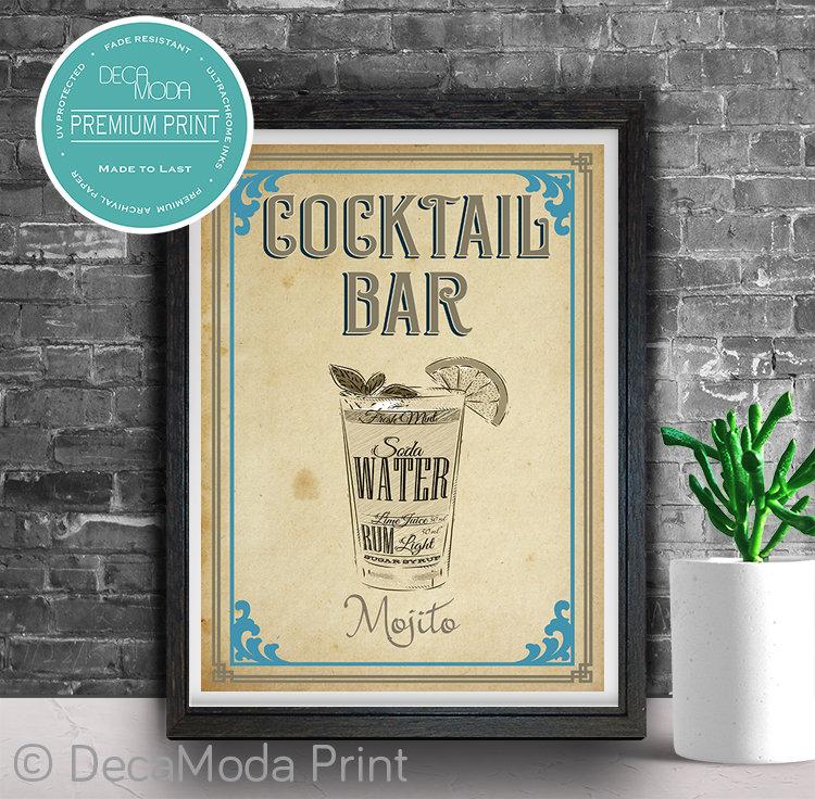 Mojito Bar Sign Print