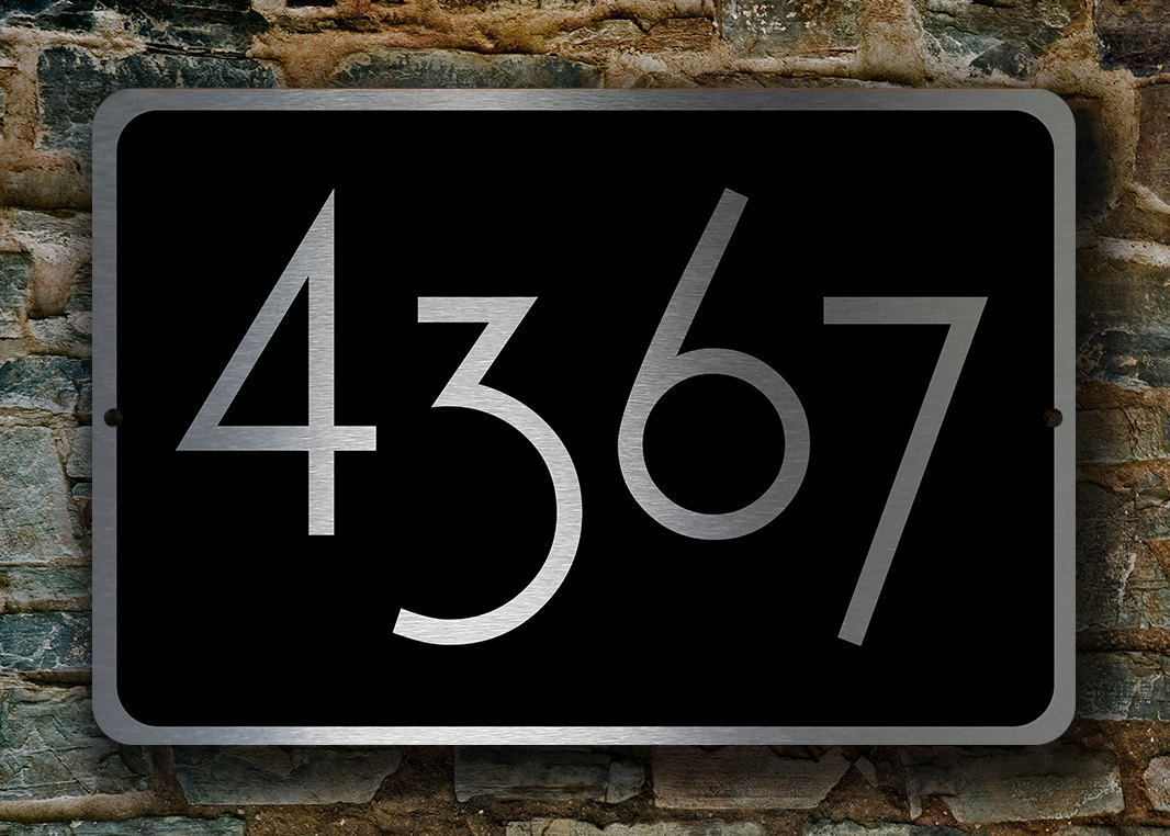 PERSONALIZED HOUSE NUMBERS Sign