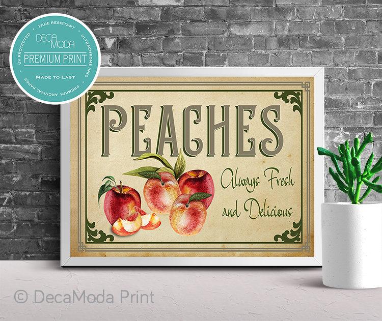Peaches Kitchen Art Print