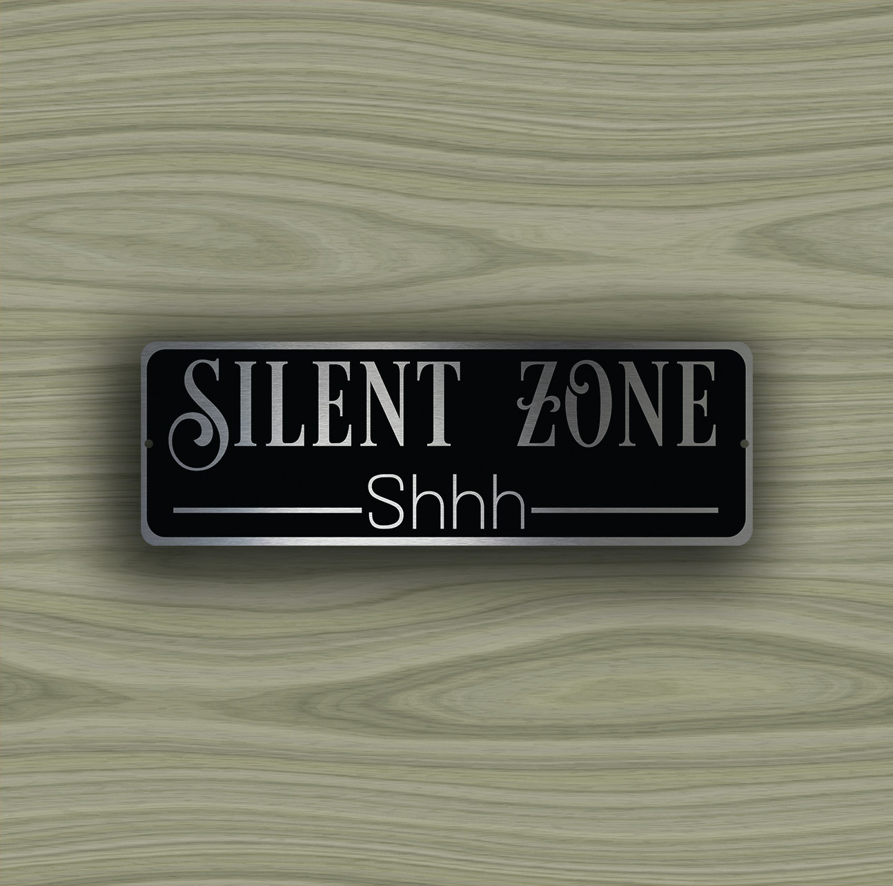 SILENT ZONE SIGN