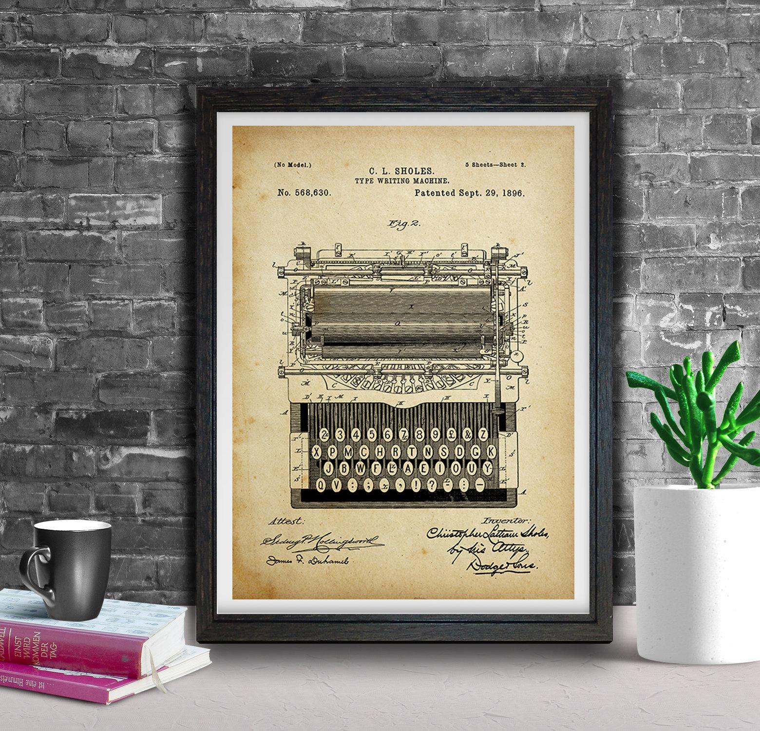 Typewriter Patent Prints