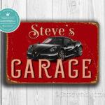 Personalized Alfa Romeo Garage Sign