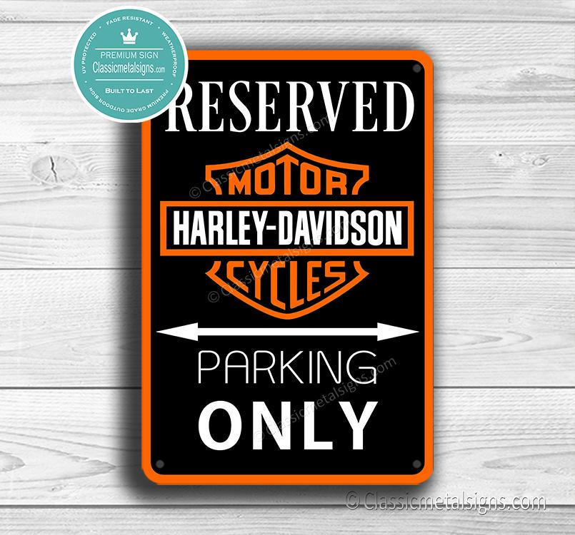 Harley Davidson Parking Only Sign