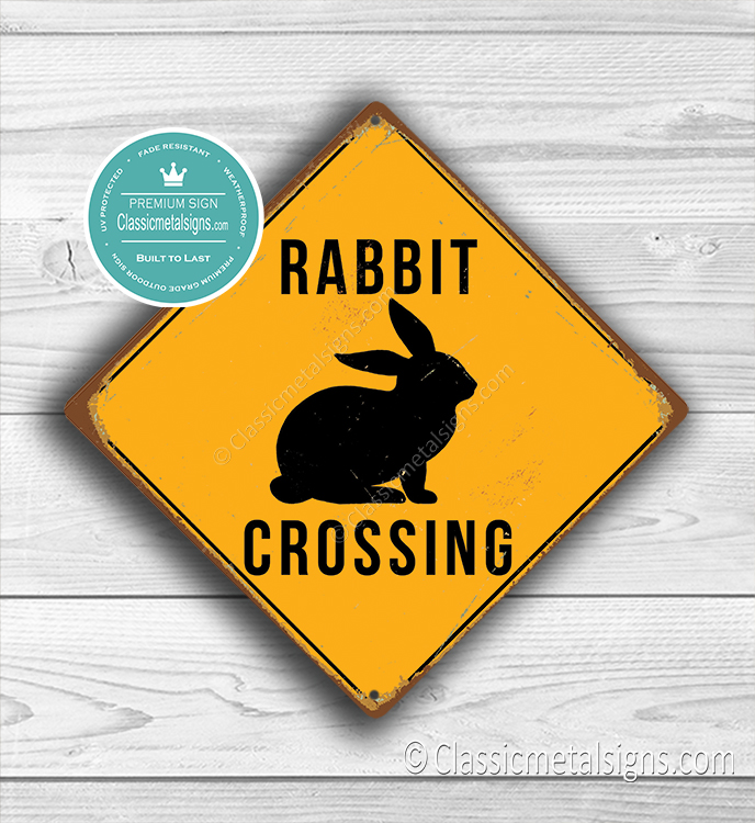 Rabbit Crossing sign