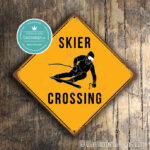 Skier Crossing sign