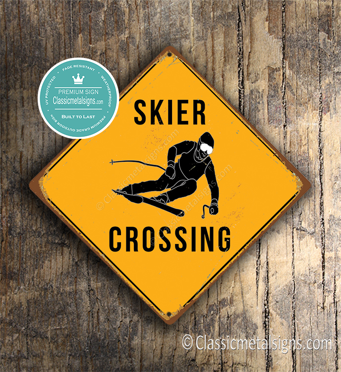 Skier Crossing sign