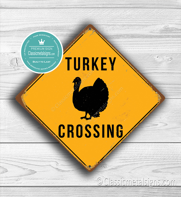 Turkey Crossing Sign