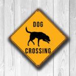 Dog Crossing Sign 3