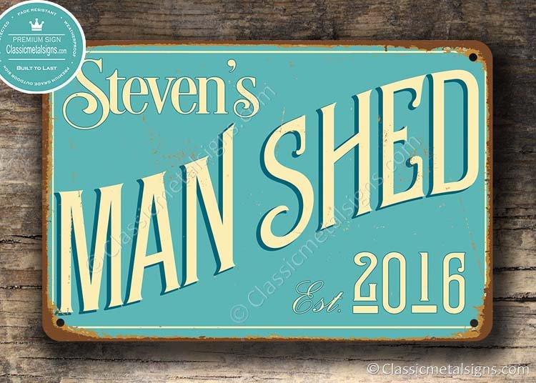 Man Shed Sign